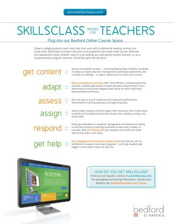 Download the SkillsClass promotional flyer