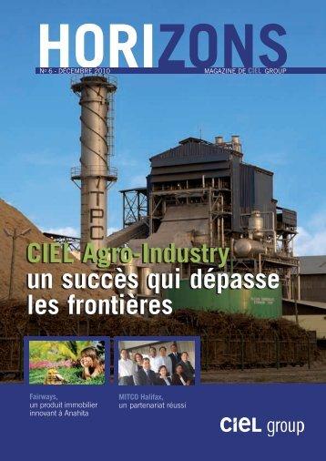 CIEL Agro-Industry un succès qui dépasse les ... - CIEL Group