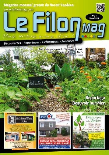 Noroît Vendéen - MARS 2013 - N°71 - Le FiLON MAG