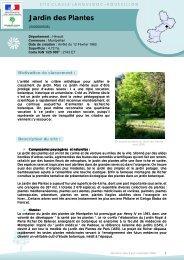 Jardin des Plantes - DREAL Languedoc-Roussillon