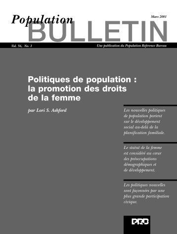 Politiques de population : la promotion des droits de la femme (BUL ...