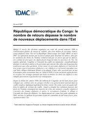 République démocratique du Congo: le nombre de retours dépasse ...