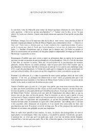 J Podlejski Alençon - Association Psychanalyse Jacques Lacan