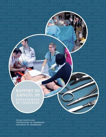 rapport annuel 2008-9 - Université de Sherbrooke
