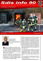 Sdis info 90 - n°50 - Janvier 2012 - SDIS90