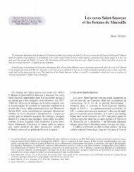 Les caves Saint-Sauveur et les forums de Marseille - E-Corpus