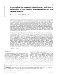 Accounting for surveyor inconsistency and bias in estimation of tree ...