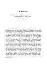 LE SENS DU REEL Colloque des 8 et 9 octobre 2011 La ... - Dimpsy