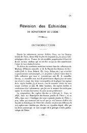 Révision des Echinides - Revue de géologie alpine