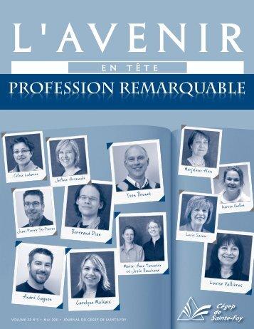 Journal l'Avenir en tête, volume 22, numéro 5 - Cégep de Sainte-Foy