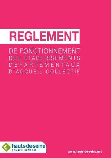 reglement interieur creche.indd - Conseil général des Hauts-de-Seine