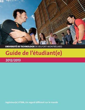 Guide de l'étudiant - Utbm