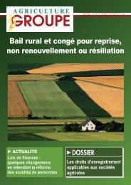 Bail rural et congé pour reprise, non ... - gaec et societes