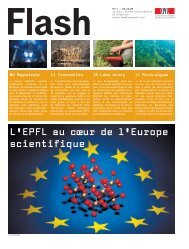 L'EPFL au cœur de l'Europe scientifique - NEWS EPFL