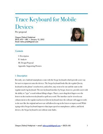 Trace Keyboard for Mobile Devices - Courses