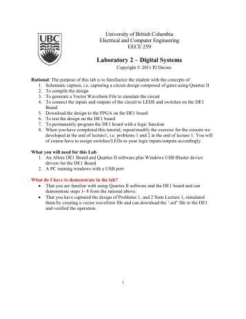 Laboratory 2 – Digital Systems - Courses - University of British ...