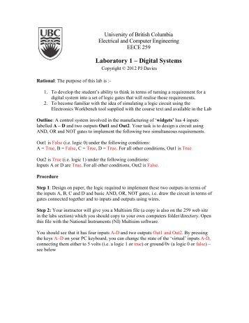 Wk2 - EECE 259 - Lab 1 - Using Multisim.pdf - Courses - University ...