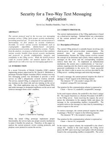 Security for a Two-Way Text Messaging Application.pdf - Courses ...