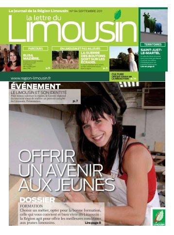 FORMATION Choisir un métier, opter pour la ... - Région Limousin
