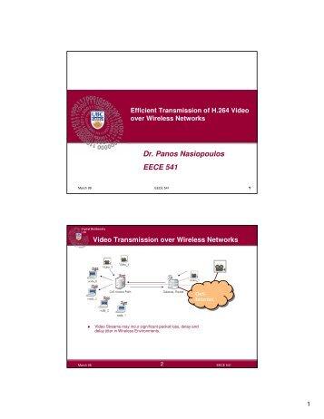 Dr. Panos Nasiopoulos EECE 541 - Courses