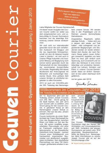 Couven Courier 1/2013 - Couven-Gymnasium Aachen