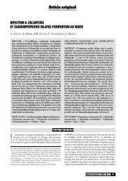 Infection à Chlamydia et cardiomyopathie dilatée peripartum au Niger