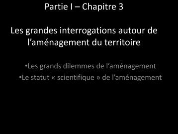 Partie I Chapitre 3 Dossier documentaire - Geographica