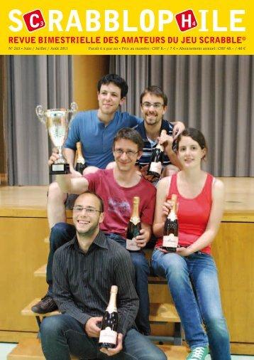 Juin / Juillet / Août 2011 - Fédération Suisse de Scrabble