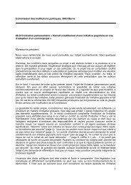 Initiative parlementaire « Retrait conditionnel d'une initiative ...