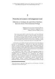 Protection de la nature et développement rural Dilemmes et ... - ufrgs