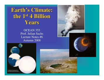 Earth's Climate: the 1st 4 Billion Years
