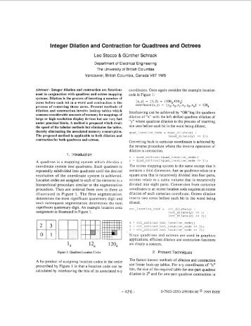 Integer Dilation and Contraction for Quadtrees and Octrees ...