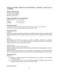 PACKAGE INSERT TEMPLATE FOR MENTHOL & METHYL ... - BPFK
