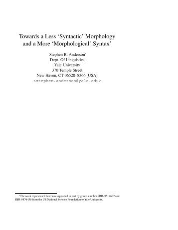 morphology and syntax Title subject topic  adjectives - comparative and superlative forms: general linguistics, language arts, reading, writing, morphology, grammar/syntax.