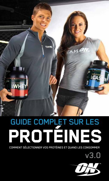GUIDE COMPLET SUR LES v3.0 - Optimum Nutrition
