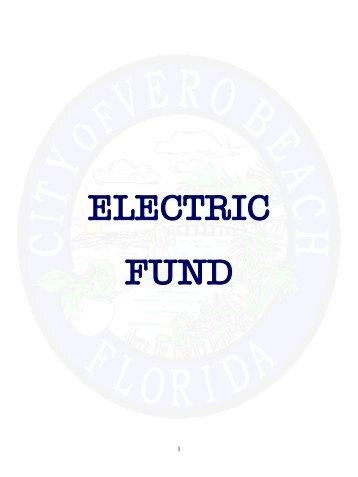 Enterprise Funds Backup - City of Vero Beach