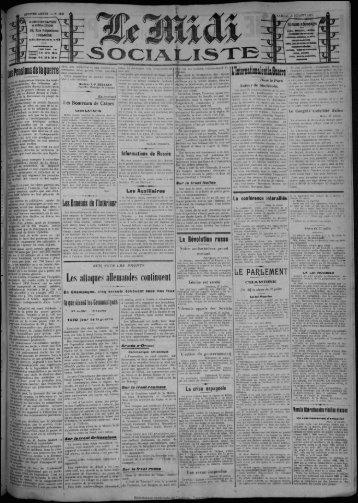 Les attaques allemandes continuent - Bibliothèque de Toulouse