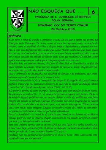 Domingo XXX do Tempo Comum - Paróquia São Domingos de ...