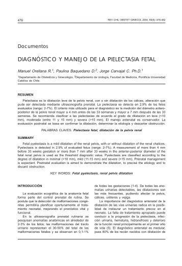 DIAGNÓSTICO Y MANEJO DE LA PIELECTASIA FETAL - SciELO