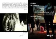 Carnet de création - Théâtre Vidy Lausanne