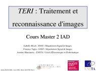 TERI : Traitement et reconnaissance d'images - Ensta
