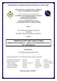 Page De Garde Université De Tlemcen