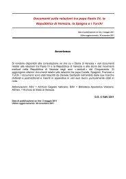 Documenti sulle relazioni tra papa Paolo IV, la ... - Storia di Venezia