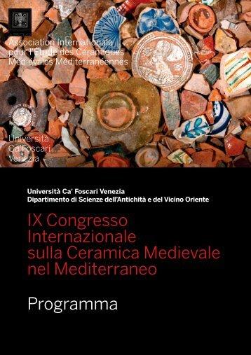 programma aiecm2 - Archeologia Medievale Venezia