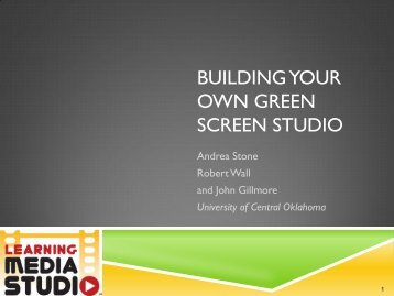building your own green screen studio - CPDE Connect - PBworks