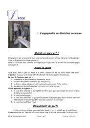 L' angioplastie ou dilatation coronaire - Hôpital Foch