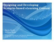 Designing and Developing Scenario-based eLearning Content