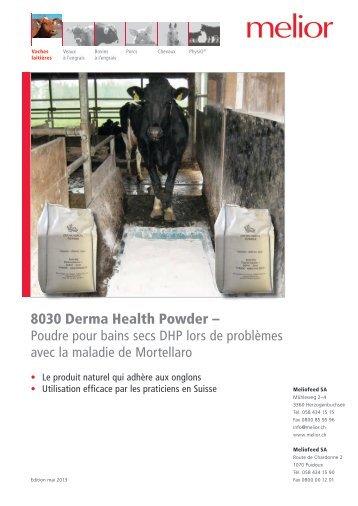 8030 Derma Health Powder - Expériences pratiques avec l ... - Melior