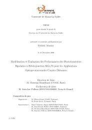 Modélisation et Évaluation des Performances des ... - ESIEE Paris