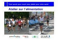 Atelier sur l'alimentation - Geneva Marathon